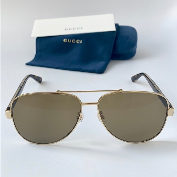 7fb843a0797f Gucci Accessories | Web Sunglasses Gg0528s 008 Gold Brown | Poshmark